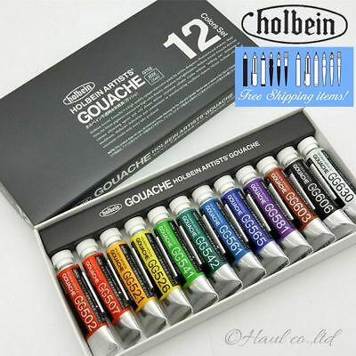 Holbein Artists' Gouache G702 Opaque Water Colors 5ml x 12 color set [NEW]