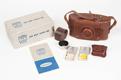 Purma Plus ever ready case, Box, instructions, filter and lens hood.