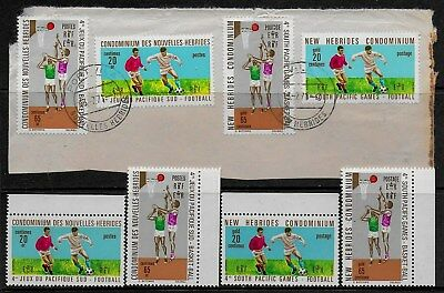 New Hebrides 1971 South Pacific Games at Papeete - MLH, FDCs, plus used on piece