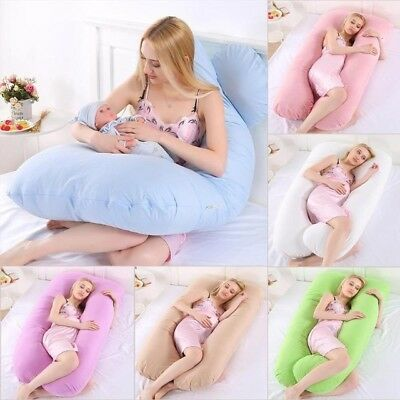 U Pillow Body/Bolster Support Maternity Pregnancy Support 9Ft Pillow FREE P&P