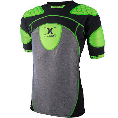 Clearance Line New Gilbert Rugby Atomic Zenon Body Armour Black/ Green Medium