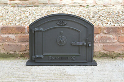58.5 x 43.5 cm cast iron fire door clay bread oven doors pizza stove smoke house