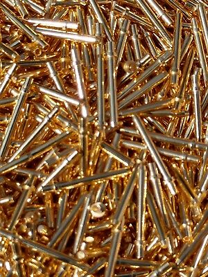 One+ ounce of Telecommunication Pins. Nice gold and fully plated. Clean