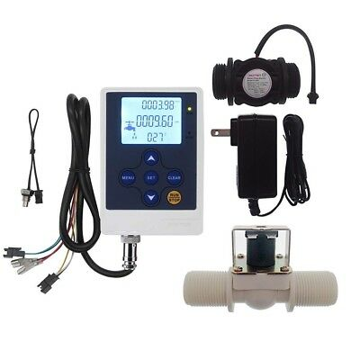 "Water Flow Control LCD Display+G1""Flow Sensor Meter+G1""Solenoid Valve"