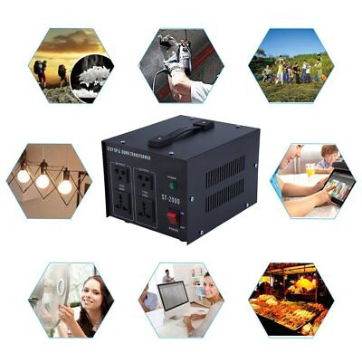 Step UP&Down Converter transformateur de tension 230V-110V AC Voltage 500-2000W~