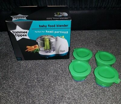 Tommee Tippee Baby Food Blender And Tommee Tippee Weaning Pots