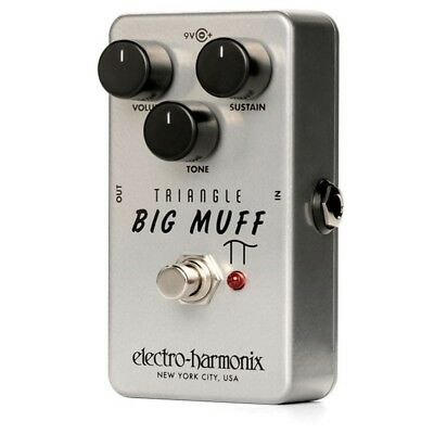 Electro-Harmonix EHX Triangle Big Muff Reissued Fuzz True Bypass Effects Pedal