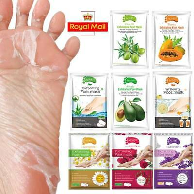 8 Flavor Exfoliating Foot Mask Socks Baby Soft Foot Remove Peel Off Dead Skin UK