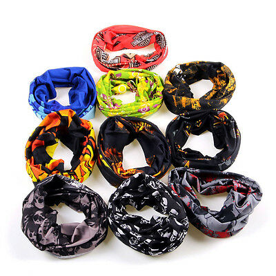Unisex Men Skull Head Face Mask Wear Tube Bandana Durag Scarf Bike Motorcycle