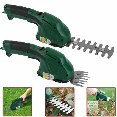 3.6V Battery Cordless 2 in1 Grass Lawn Cutter & Hedge Trimmer Hand Held Shear UK