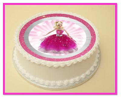 Barbie Birthday Edible Cake Cupcake Topper Decoration Wafer Paper Icing