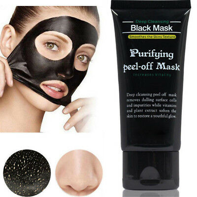 50ml Blackhead Remover Deep Cleansing Purifying Peel-off Mask Black Mud New Hot