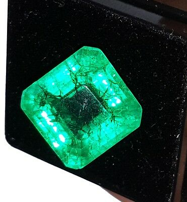 Natural Emerald Loose Gemstone 10.87 Ct Certified Square Shape