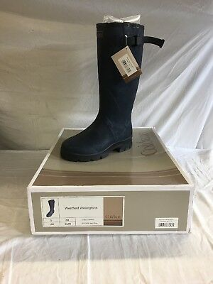 Equestrian Caldene Westfield Wellies, Size 5, Navy Blue, New In Box