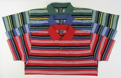 Kingsize Striped Polo T Shirt Big Size Short Sleeve Tshirts Top Pocket Collar 04