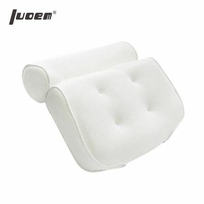 Breathable 3D Mesh Spa Bath Pillow with Suction Cups Neck and Back Support Spa P