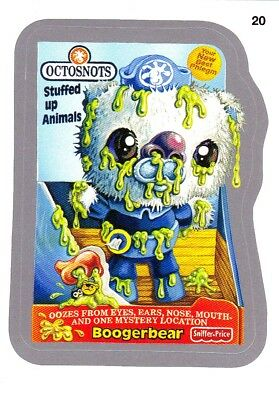 "2014 Wacky Packages Series 1 Silver Border ""OCTOSNOTS"" #20 Sticker"