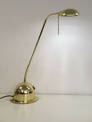 Vintage Retro 80s Gold Anglepoise Style Desk Table Lamp