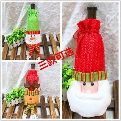 Wine Bottle Cover Gift Bag Candy Bags Christmas Santa Dinner Party Decor LH