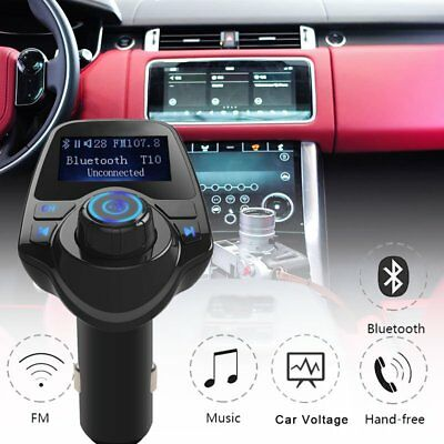 Bluetooth Car FM Transmitter Mp3 Player Wireless Radio Adapter USB Charger
