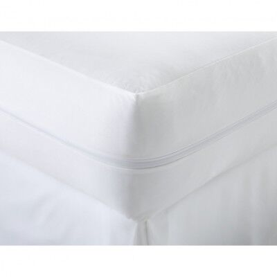 Zipped Anti Allergy 100% Cotton Mattress Protector Bugs Mites Treated