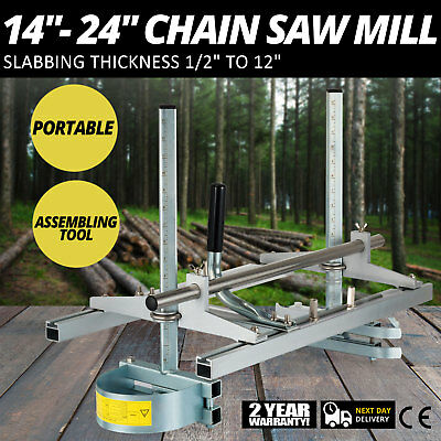 """14"""" - 24"""" Chain Saw Mill Planking Lumber Cutting Portable Efficient Guide Bar"""