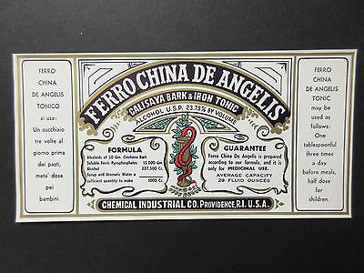 """Old Prohibition Pharmacy Drug Store Apothecary  Medicine Bottle Labels 8""""x4""""-"""