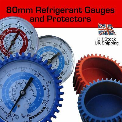 Replacement 80mm Refrigerant Manifold Gauges