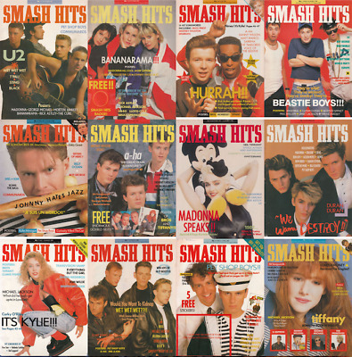 Smash Hits Magazine's 1978-1988 - *230+ Issues* DVD - Pop Music Charts Pdf's 80s