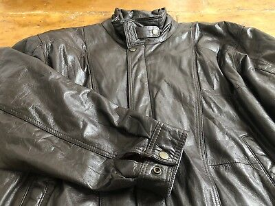 5a6275275 ORIGINAL VALENTINO 80S Leather Jacket. Mens Vintage Retro Uomo Size L in  Brown