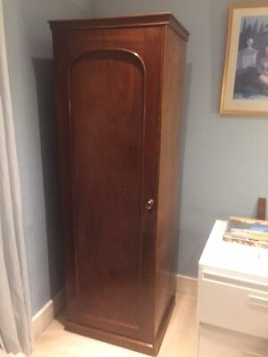 Antique Single Wardrobe, Satinwood, English, Good condition