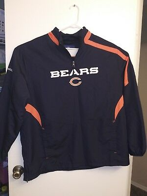 c102f66be Chicago Bears NFL Team Apparel Reebok Wind Breaker Pullover with pockets  vintage