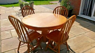Solid Round Table & Chairs.  Strong Good Quality Set