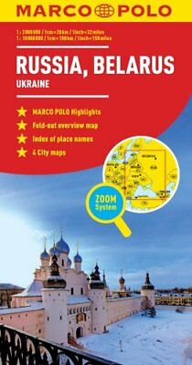 Russia/Belarus Map And Ukraine by Marco Polo 9783829770071
