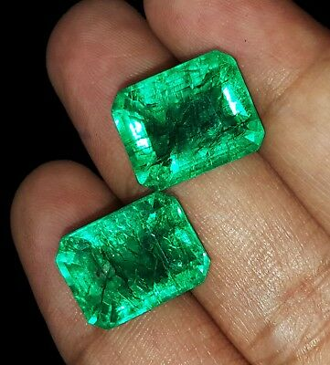 Lose Edelstein 8,00 bis 9,00 CTS Natural Emerald Certified Stone