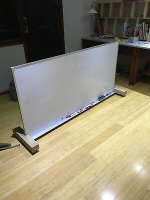 Large Moveable Whiteboard With Wheels