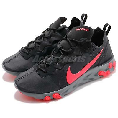 bf8924b8956 Wmns Nike React Element 55 Black Solar Red Women Running Shoes BQ2728-002