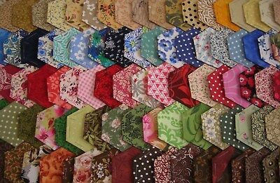 100 Hexagons Multi  100% Cotton  For Quilting & Patchwork  Jun