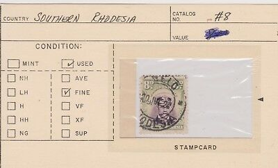Southern Rhodesia-  Lot 29, Used. Sc# 8.