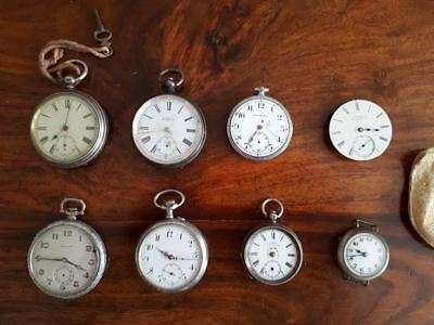 Collection of Antique Pocket Watches, various dates, F Hinds, W Christie London