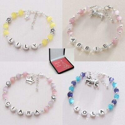 Christmas Personalised Bracelets for Girls, Any Name, Gift for Christmas.