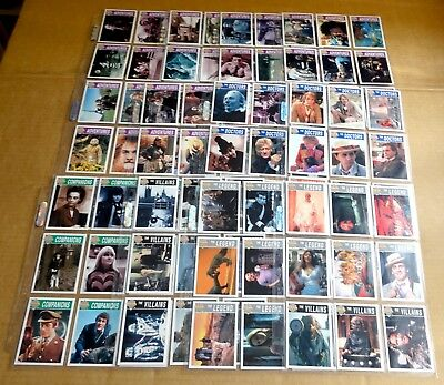 MULTI-LIST SELECTION OF SLEEVES OF 9 x CORNERSTONE DOCTOR WHO TRADING CARDS 1995
