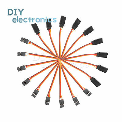 10PCS 300mm Extension Servo Lead Wire 30cm Cable  RC Futaba JR Male to Female US