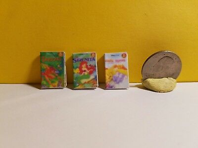 Dollhouse Miniature Set of 3 Children's Books Different Titles 1/12 Scale 📕📔📓