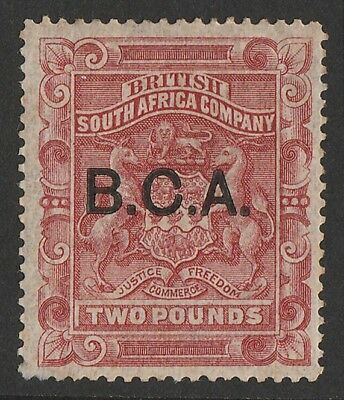 BRITISH CENTRAL AFRICA 1891 BCA on Arms £2 . RARE GENUINE with CERTIFICATE.