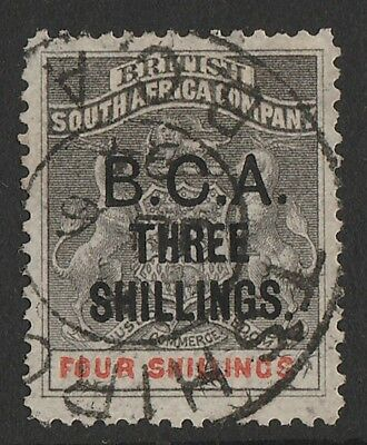BRITISH CENTRAL AFRICA 1892 'BCA THREE SHILLINGS' on Arms 4/- . with CERTIFICATE