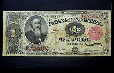 1891 $1 Treasury Note ✪ Fine F ✪ Small Red Seal L@@k Now Choice 944 ◢Trusted◣