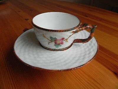 A  bone china invalid, non spill,  Cup and Saucer made by EJD BODLEY   Reg 1876
