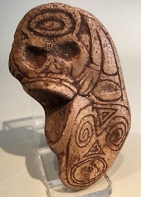 Taino Composite Visionary Carving 3 Faces. PreColumbian
