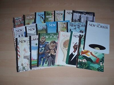 NEW YORKER magazine Jan - June 2018 covers ONLY set of 20 - suitable for framing